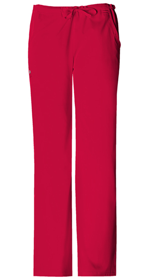 Cherokee Low Rise Straight Leg Drawstring Pant Red (1066-REDV)