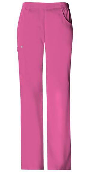 Cherokee Luxe Women's Mid-Rise Pull-On Cargo Pant Pink