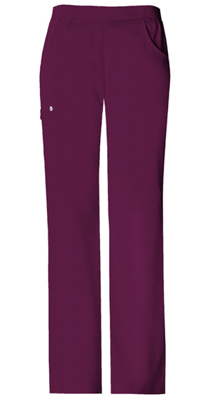 Cherokee Luxe Women's Mid-Rise Pull-On Cargo Pant Red