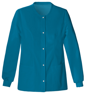 Cherokee Snap Front Warm-Up Jacket Caribbean Blue (1330-CARV)