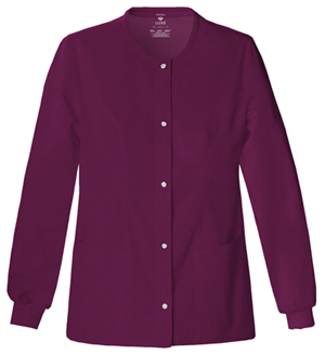 Cherokee Luxe Women's Snap Front Warm-Up Jacket Red