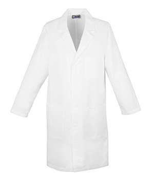 "Cherokee Whites Unisex 40"" Unisex Lab Coat White"