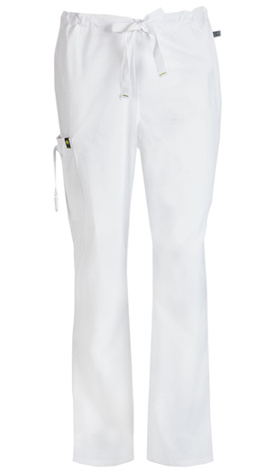 Code Happy Men's Drawstring Cargo Pant White (16001A-WHCH)