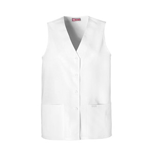 Cherokee Cherokee Whites Women's Button Front Vest White