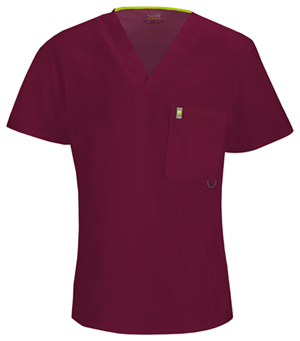 Code Happy Men's V-Neck Top Wine (16600A-WICH)