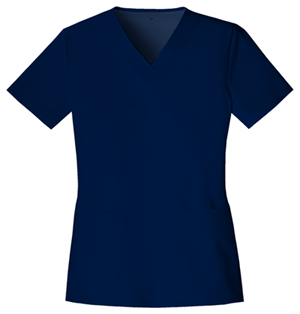 Cherokee Luxe Women's V-Neck Top Blue