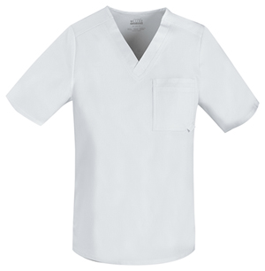 Cherokee Men's V-Neck Top White (1929-WHTV)