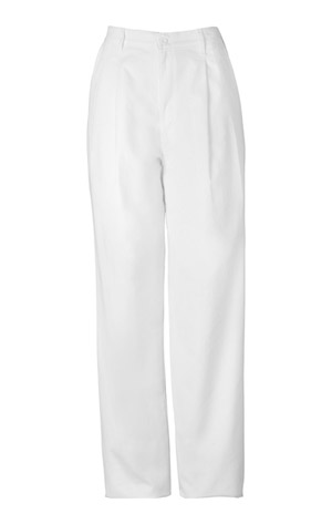 Med-Man Cherokee Whites Men's Men's Fly Front Trouser White