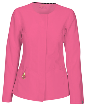"HeartSoul Head Over Heels Women's ""Warm My Heart"" Button Front Jacket Pink"