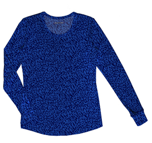 Heartsoul Long Sleeve Underscrub Knit Tee Hot Purr-Suit Royal (20801-HORL)