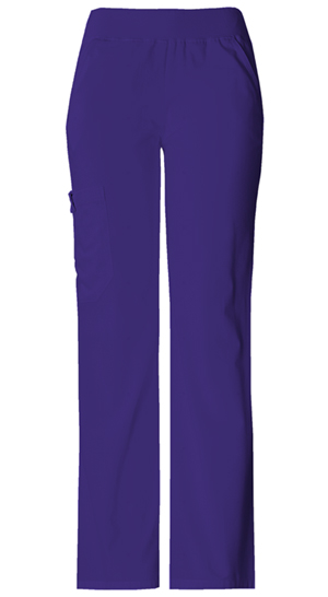 Cherokee Flexibles Women's Mid Rise Knit Waist Pull-On Pant Purple