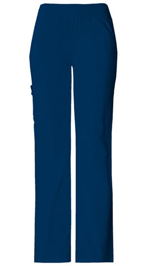 Flexibles Women's Mid Rise Knit Waist Pull-On Pant Blue
