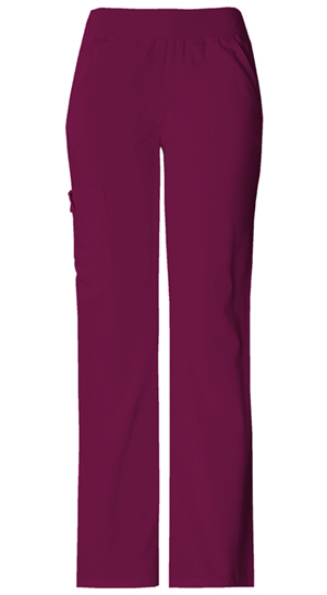 Cherokee Flexibles Women's Mid-Rise Knit Waist Pull-On Pant Red