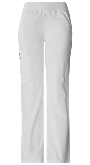 Flexibles Women's Mid Rise Knit Waist Pull-On Pant White