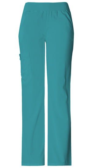 Cherokee Flexibles Women's Mid Rise Knit Waist Pull-On Pant Green