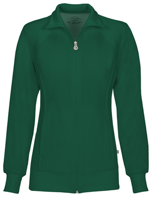 Cherokee Zip Front Jacket Hunter Green (2391A-HNPS)
