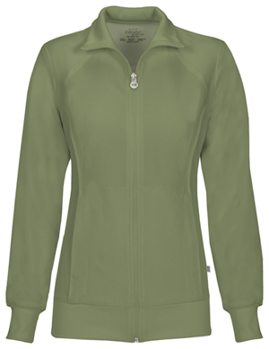 Cherokee Zip Front Warm-Up Jacket Olive (2391A-OLPS)