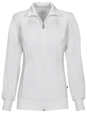 Cherokee Zip Front Warm-Up Jacket White (2391A-WTPS)