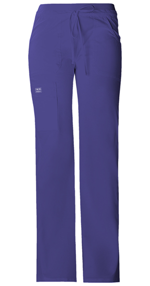 Cherokee Workwear Low Rise Drawstring Cargo Pant Grape (24001-GRPW)