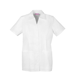 Cherokee Cherokee Whites Women's Button Front Top White