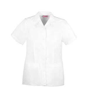 Cherokee Whites Women's Button Front Top White