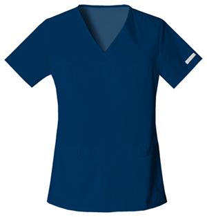 Flexibles Women's V-Neck Knit Panel Top Blue