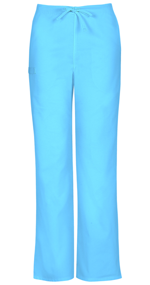Cherokee Workwear WW Flex Unisex Unisex Natural Rise Drawstring Pant Blue