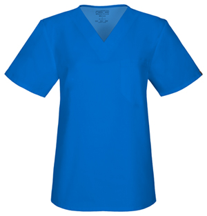 Cherokee Workwear Unisex V-Neck Top Royal (34777A-ROYW)
