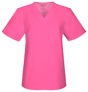 Cherokee Workwear Unisex V-Neck Top Shocking Pink (34777A-SHPW)