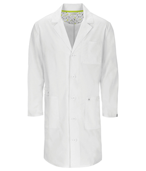 "Code Happy Bliss 38"" Unisex Lab Coat in White (36400AB - WHCH)"