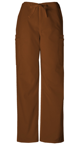 Cherokee Workwear WW Originals Men's Men's Drawstring Cargo Pant Brown