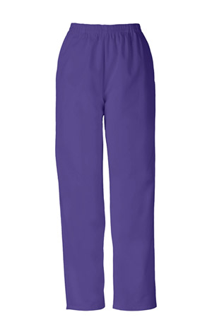 Cherokee Workwear WW Originals Women's Natural Rise Tapered Leg Pull-On Pant Purple