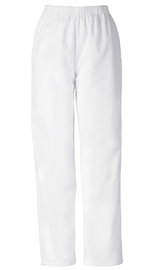 Cherokee Workwear WW Originals Women's Natural Rise Tapered Leg Pull-On Pant White