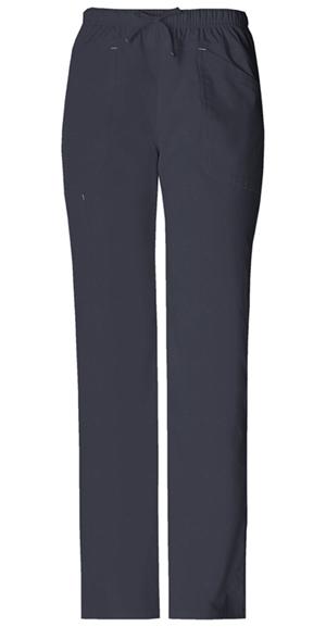 Cherokee Workwear WW Premium Women's Mid Rise Drawstring Cargo Pant Grey