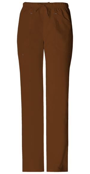 Cherokee Workwear WW Premium Women's Mid Rise Drawstring Cargo Pant Brown