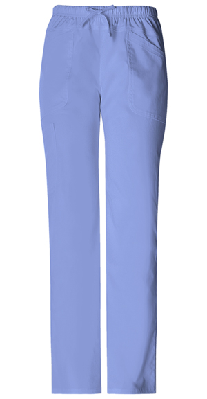 WW Premium Women's Mid Rise Drawstring Cargo Pant Blue