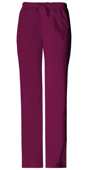 Cherokee Workwear WW Premium Women's Mid Rise Drawstring Cargo Pant Purple