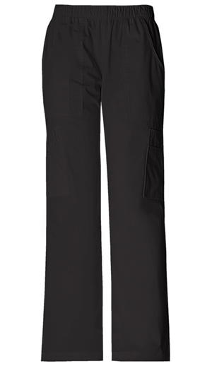 Cherokee Workwear WW Premium Women's Mid Rise Pull-On Pant Cargo Pant Black