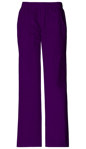 Cherokee Workwear Mid Rise Pull-On Pant Cargo Pant Eggplant (4005-EGGW)