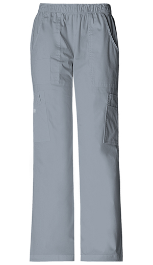 Cherokee Workwear Mid Rise Pull-On Pant Cargo Pant Grey (4005-GRYW)
