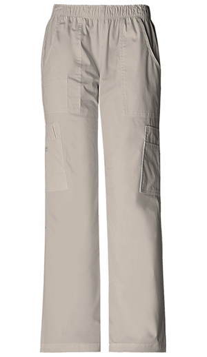 WW Premium Women's Mid Rise Pull-On Pant Cargo Pant Khaki