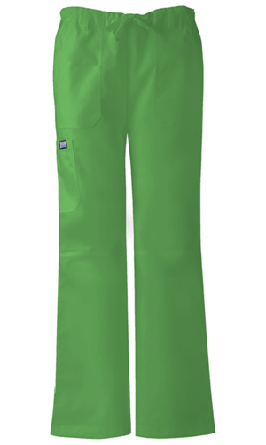 Cherokee Workwear WW Originals Women's Low-Rise Drawstring Cargo Pant Green