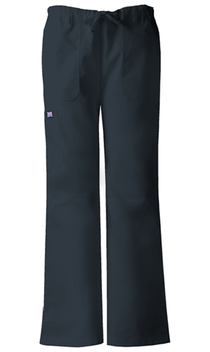 Cherokee Workwear WW Originals Women's Low-Rise Drawstring Cargo Pant Grey
