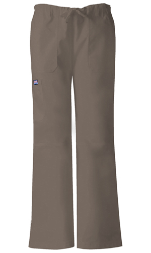 Cherokee Workwear WW Originals Women's Low-Rise Drawstring Cargo Pant Neutral