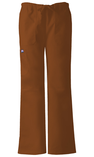 WW Originals Women's Low Rise Drawstring Cargo Pant Brown