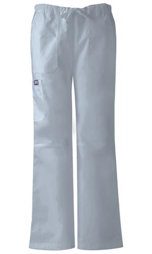 Cherokee Workwear WW Originals Women's Low Rise Drawstring Cargo Pant Grey