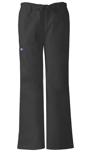 WW Originals Women's Low Rise Drawstring Cargo Pant Black