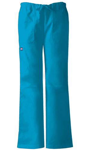 Cherokee Workwear WW Originals Women's Low Rise Drawstring Cargo Pant Blue