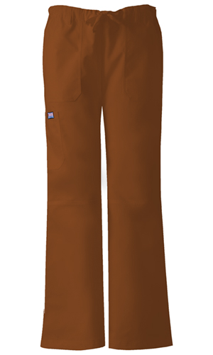 Cherokee Workwear WW Originals Women's Low Rise Drawstring Cargo Pant Brown