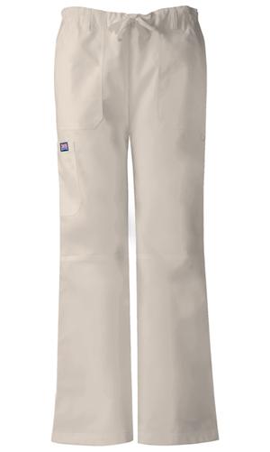 Cherokee Workwear WW Originals Women's Low Rise Drawstring Cargo Pant Khaki